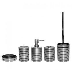 AWD INTERIOR Komplet łazienkowy LUNA - dozownik, kubek, kubek na szczoteczki, mydelniczka, szczotka toaletowa, LUNA