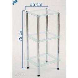 Regał łazienkowy CENTER PLUS P.KS3 3 szklane półki - sprawdź w ELECTRO.pl