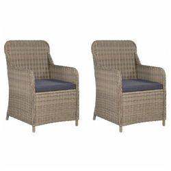 Elior Krzesła ogrodowe z poduszkami grafton 2 szt - brąz