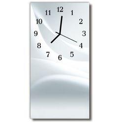 Zegar Szklany Pionowy Sztuka Grafika biały