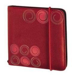 Etui HAMA CD Wallet Slim Gumka (24 CD) Czerwony