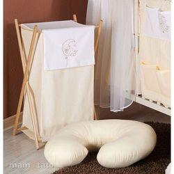 MAMO-TATO Kosz na bieliznę Miś na księżycu w kremie z kategorii Kosze na pranie