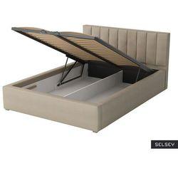 łóżko tapicerowane rinus marki Selsey