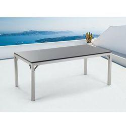 Meble ogrodowe - stół granitowy 180 cm - czarny polerowany - TORINO (7081459472030)