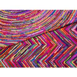 Beliani Dywan kolorowy - 140x200 cm - bawełna - poliester - malatya
