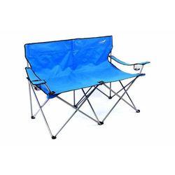 Krzesło turystyczne wędkarskie XXL dla 2 osób niebieskie