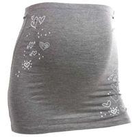 Mamaband  pas podtrzymujący brzuch serduszka kolor szary