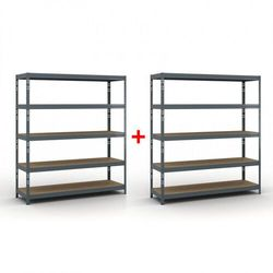 Regał półkowy 1800x1600x500 mm, nośność 350 kg 1+1 gratis marki B2b partner