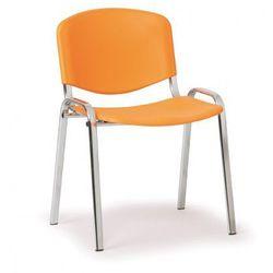 Plastikowe krzesło iso, pomarańczowy - kolor konstrucji chrom marki B2b partner