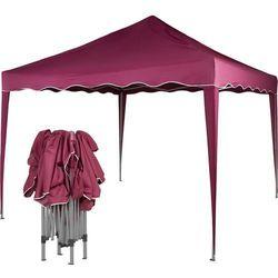 Ekspresowy pawilon namiot ogrodowy handlowy 3x3m - czerwony (odcień bordowy) marki Instent ®