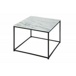 Sofa.pl Invicta stolik kawowy elements 50 cm - marmur biały, metal