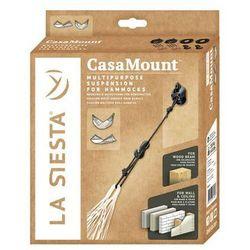 Zestaw mocujący do hamaka Casa Mount Black, Czarny CMF30