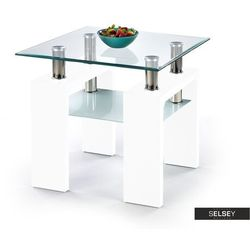Halmar Selsey stolik kawowy ormas 60x60 cm biały