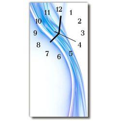 Zegar Szklany Pionowy Sztuka Krzywa linia niebieski