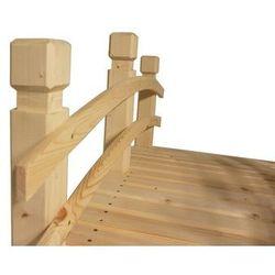 Most drewniany ogrodowy bez wykończenia powierzchni - 149 cm
