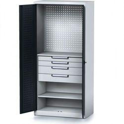 B2b partner Szafa warsztatowa mechanic, 1950 x 920 x 500 mm, 2 półki, 4 szuflady, antracytowe drzwi