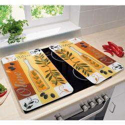 Szklane płyty ochronne OLIWKI na kuchenkę – 2 sztuki, WENKO (4008838135778)