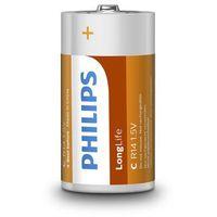 2 x bateria cynkowo-węglowa Philips LongLife R14 C (taca), R14L2B/10