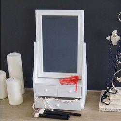 Toaletka, trzy szufladki, lustro,satynowa biel. marki Design by impresje24