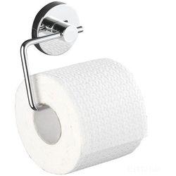 WENKO Vacuum-Loc Milazzo 20899100 uchwyt na papier toaletowy ze stali chromowanej, montaż bez wiercenia, 13,5 x 17,5 x 16 cm