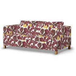 Dekoria  pokrowiec na sofę karlanda rozkładaną, krótki, żółto-brązowe kwiaty, sofa karlanda rozkładana, wyprzedaż do -30%
