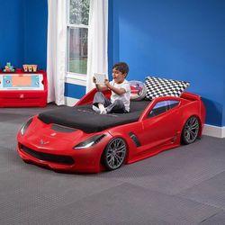 Step2 łóżko dla dziecka w kształcie samochodu corvette (0733538860098)