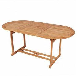 Stół ogrodowy Crayon 2X - lite drewno tekowe