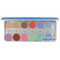 - aquacolor - paleta 12 farb wodnych do malowania twarzy - art. 1104 - p marki Kryolan