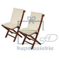 Divero 2 x poduszki na krzesła ogrodowe - kremowe (4025379981671)