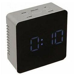 budzik cyfrowy z ekranem lustrzanym i temperaturą marki Perel