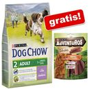 2,5 kg Purina Dog Chow + AdVENTuROS Sticks, 120 g gratis! - Puppy Lamb & Rice, jagnięcina i ryż (7613034488657)