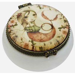 Mirabelle, Mergirl, ceramiczne pudełka na ozdoby, duże