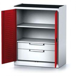 Alfa 3 Szafa warsztatowa mechanic, 1170 x 920 x 500 mm, 1 półki, 2 szuflady, czerwone drzwi
