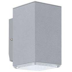 Eglo Zewnętrzna lampa ścienna tabo 94185  aluminiowa oprawa ogrodowa led ip44 outdoor kostka aluminium srebrny, kategoria: lampy ogrodowe