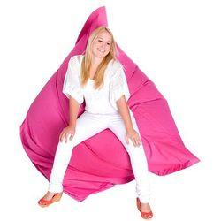 Nowoczesna pufa worek XXXL 180x230cm RÓŻOWY, kolor różowy