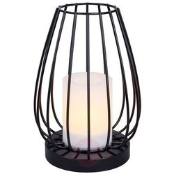 Lampa solarna led hannika, migoczący bursztyn marki Lindby