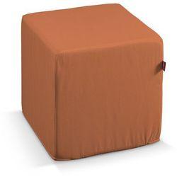 Dekoria  pufa kostka twarda, ceglano-pomarańczowy, 40x40x40 cm, taffeta do -30%