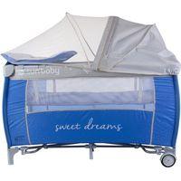 Łóżeczko z pełnym wyposażeniem Sweet Dreams niebieskie Sun Baby SD995/NS (5907478648879)
