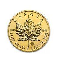 1 uncja x 10szt. Kanadyjski Liść Klonowy - Złota Moneta Rocznik 2013 - Dostawa Natychmiastowa