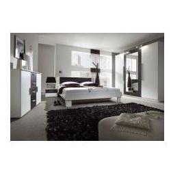 Zestaw do sypialni Vera w kolorze biały/czarny orzech, 6C81-2997A