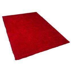 Beliani Dywan czerwony 140 x 200 cm shaggy demre