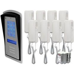 Radbit Zestaw 8-rodzinny panel domofonowy wielorodzinny z szyfratorem brc10 mod