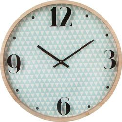Nowoczesny zegar ścienny ATOMIC, okrągły, Ø 33 cm, kolor niebieski, kolor niebieski