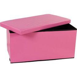 Składana ławka ze schowkiem - różowe