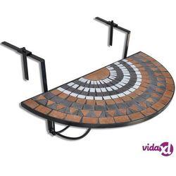 Vidaxl półokrągły, wiszący stolik balkonowy, mozaika (8718475874515)