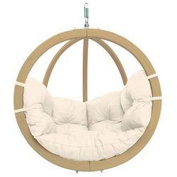Fotel hamakowy drewniany, ecru Globo chair