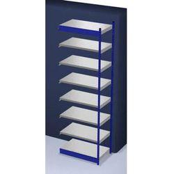 Stabilny regał wtykowy, jednostronny, wys. regału 3000 mm, niebieski / ocynkowan marki Unbekannt