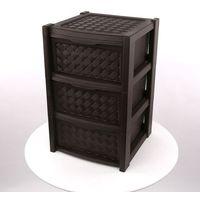 Regał 3 szuflady 63,5x38,5x39cm kol. brąz -arianna marki Altom