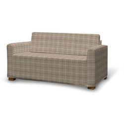 Dekoria Pokrowiec na sofę Solsta, szaro- beżowa krata, sofa Solsta, Edinburgh, kolor beżowy
