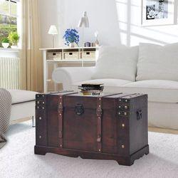 Vidaxl skrzynia w stylu vintage, drewniana, 66 x 38 x 40 cm (8718475575696)